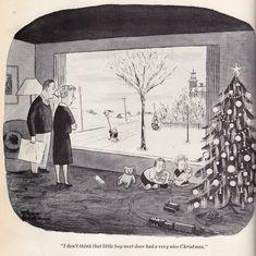 Charles Addams Addams Family (with Pugsley) Christmas Cartoon Illustration Original Art (c. Addams Family Cartoon, Addams Family Tv Show, Adams Family, Christmas Cartoons, Christmas Humor, Charles Addams, Gothic Culture, New Yorker Cartoons, Fun Comics