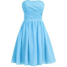 Dresstells Women's Short Strapless Bridesmaid Dress Homecoming Party... ($50) ❤ liked on Polyvore featuring dresses, lullabies, strapless dress, bridesmaid dresses, blue cocktail dress, blue homecoming dresses and short blue dresses