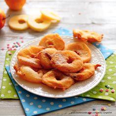 Öpfelküachli » Kochrezepte von Kochen & Küche Austrian Recipes, Onion Rings, Shrimp, Peach, Candy, Ethnic Recipes, Desserts, Food, Chef Recipes