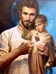 St Joseph Catholic, Catholic Saints, Catholic Art, Roman Catholic, Religious Art, Patron Saints, Religious Pictures, Jesus Pictures, San Josemaria