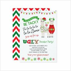 Christmas Photo Props, Christmas Photos, Christmas Ideas, Santa Christmas, Christmas Decorations, Christmas Party Invitations, Birthday Invitations, Cute Christmas Sweater, Ugly Sweater Party