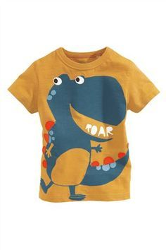 Buy Yellow Dino T-Shirt from the Next UK online shop Toddler Boy Fashion, Toddler Outfits, Baby Boy Outfits, Kids Outfits, Cheap Kids Clothes, Baby Kids Clothes, Kids Clothing, Kids Winter Fashion, Stylish Boys