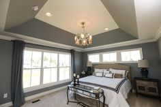 Angled Tray Ceiling - Crown Molding and Paint Ceiling Crown Molding, Ceiling Trim, Shiplap Ceiling, Tray Ceiling Bedroom, Bedroom Decor, Bedroom Ideas, Painted Tray Ceilings, Ceiling Painting, Painting Trim