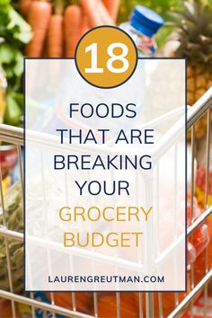 When I first started learning how to coupon and meal plan, my eyes were opened to all of the wasteful spending I was doing, and not even realizing it! There are so many ways to overspend and break your grocery budget, but by making some simple changes you can really see significant savings! To help your grocery list stay on budget watch out for these 18 foods! Living On A Budget, Frugal Living Tips, Frugal Tips, Best Money Saving Tips, Money Tips, Saving Money For Christmas, Make Money From Home, How To Make Money, Extreme Couponing