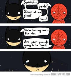 That's not funny Spidey…