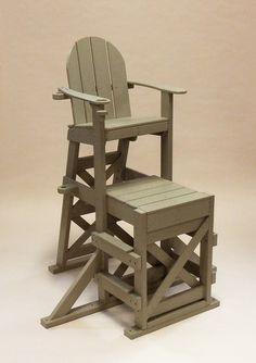 Tailwind Furniture Recycled Plastic Medium Lifeguard Chair With Side Step    MLG 520