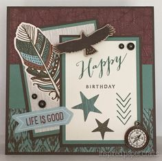 Life is Good Birthday Card www.inspiredpapercrafts.com