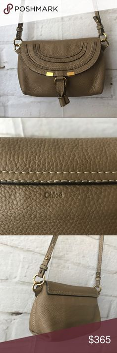 Chloe Marcie Mini Leather Crossbody Bag 100% authentic  Color: Nut brown Retails $775+ 6in x 7.5in x 3in Great deal!  Excellent pre-owed condition. No marking, no tear, no discoloration, etc. clean inside out. Hardware shows minimal signs of wear  Smoke free pet free home Ship out same day! Chloe Bags Crossbody Bags