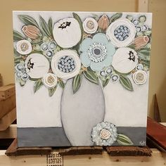 I dropped off some new paintings at earlier today. I met a great gal and her husband from Flint who bought 3 of my… Folk Art Flowers, Flower Art, Art Floral, Paintings I Love, Painting Inspiration, Canvas Wall Art, Art Drawings, Art Projects, Watercolor Art