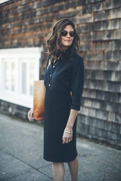 black shirt and skirt | taylor stitch