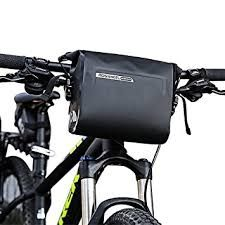 Waterproof PU Bike Bicycle Handlebar Bags Front Pannier Basket Shoulder Bag