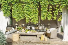 Tuscan style – Mediterranean Home Decor Outdoor Rooms, Outdoor Gardens, Outdoor Living, Outdoor Decor, Porches, Garden Furniture, Outdoor Furniture Sets, Style Toscan, Porch And Balcony