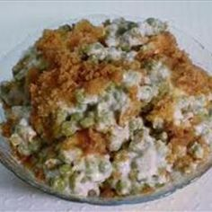 Green Pea Casserole Recipe - make w/ fresh frozen peas homemade mushroom soup casserole squash and zucchini recipes; Asparagus Casserole, Veggie Casserole, Casserole Dishes, Casserole Recipes, English Pea Casserole Recipe, Pineapple Casserole, Pea Recipes, Side Recipes, Vegetable Recipes
