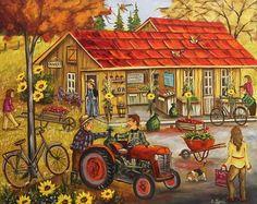 Chez Médé 24X30 Galerie D'art, Autumn Art, Art Plastique, Home Art, Puzzle, In This Moment, Watercolor, Pure Products, House Styles