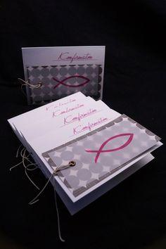 Einladungskarten - Konfirmation / Kommunion Karte, Einladung, Danke - ein Designerstück von Kestadt bei DaWanda