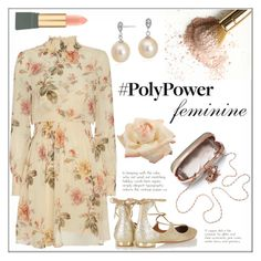"""""""PolyPower: Feminine"""" by pat912 ❤ liked on Polyvore featuring Blue Nile, Exclusive for Intermix, Aquazzura, MAC Cosmetics, polyvoreeditorial and PolyPower"""