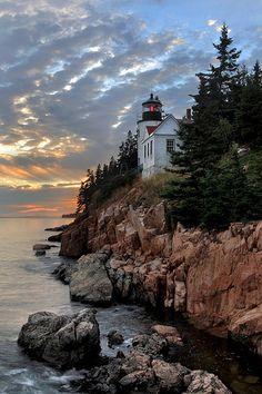 Bass Harbor Head Lighthouse in Acadia National Park, Maine.