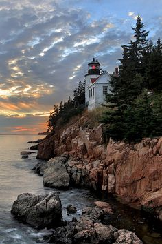Bass Harbor Head Lighthouse in Acadia National Park, Maine.