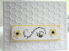 Bee get well card and honeycomb (hexagons) silhouette cut file freebie