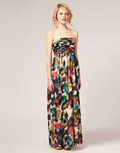 ASOS Maxi Dress in Smudge Print - StyleSays