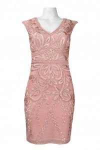 Sue Wong C3104 Cap Sleeve Cocktail Dress. Available in Rose. - Mother of the Bride - Social Event - Cruise