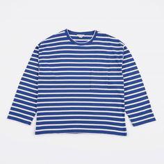 Unused Striped Top - Blue/White (Image 1)