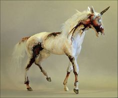 Undead Unicorn Artwork - These Demonic Zombie Sculptures Could Not be Less Ethereal (GALLERY)