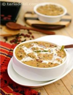 Dal makhani or maa di dal, as it is popularly known in the punjab, with its smooth velvety texture and lovely flavour is a delicacy that is very much a dish of the punjab.