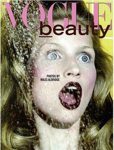 Katrin Thormann photographed by Miles Aldridge for Vogue Italia Beauty, September 2011.