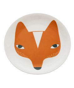 Fox Dinner Plate