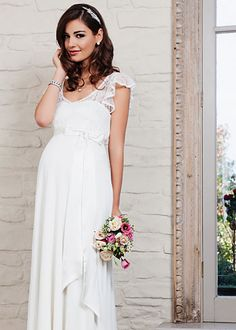 Juliette Maternity Gown (Ivory) - Maternity Wedding Dresses, Evening Wear and Party Clothes by Tiffany Rose