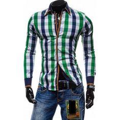 Kockovaná košeľa pre pánov - TOP (panske kosele) Plaid, Shirts, Tops, Women, Fashion, Gingham, Moda, Fashion Styles, Dress Shirts