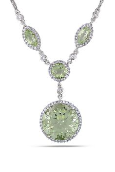 Amethyst Diamond Necklace. I almost never post sparkly diamond things but this green stone was amazing! a girl can dream
