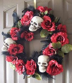 Day of the Dead Wreath - perfect for Halloween decor