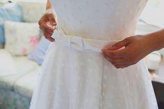 Candy Antony wedding dress, polka dot wedding dress, Devon wedding, seaside wedding