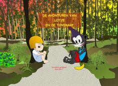 """The cover of my children's book """"Lotje en de Toveraap"""" (in Dutch) - 2015"""