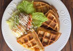 Tuna salad waffle