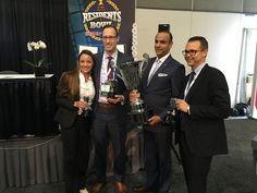 #ASPS member Dr. Ash Patel presents the Residents Bowl trophy to Southern Illinois University! #PSTM16