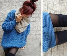 Infinity scarves & oversized sweaters