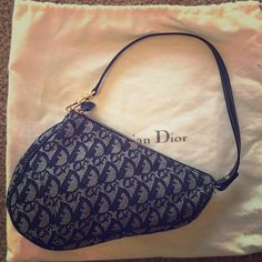 Authentic Dior Kidney bag! Authentic Dior Kidney Bag. Blue denim. Like new inside and out. No flaws. Worn just a few times. Duster bag included! Dior Bags Shoulder Bags