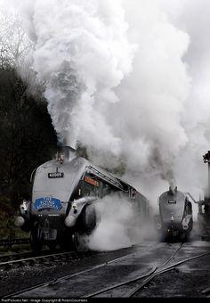 60009 Private Steam at York, United Kingdom by RobinCoombes Rail Train, Train Car, Train Tracks, Steam Trains Uk, Old Steam Train, Diesel Locomotive, Steam Locomotive, Flying Scotsman, Rail Transport