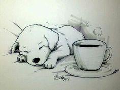 Imagem de dog, drawing, and art