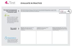 Service Design TEST Canvas :: Evaluate in Practice.   www.slideshare.net/fred.zimny/service-design-toolkit-english/8