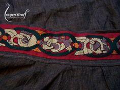pleats along top of apron dress (fabulous embroidery)
