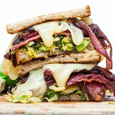 Beef Bacon And Brussel Sprout Sandwich via @feedfeed on https://thefeedfeed.com/sandwiches/nash1sh/beef-bacon-and-brussel-sprout-sandwich