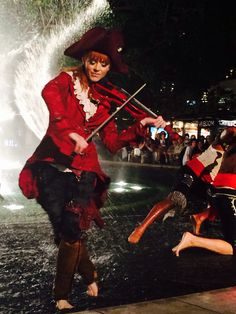 Lindsey Stirling Master of Tides music video shot at the Americana in Glendale, california