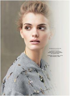 By Malene Birger in Danish IN. Malene Birger, White Tees, Brooch, Style Inspiration, Danish, Image, Jacket, Dresses, Photos