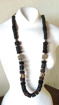 Long ethnic necklace inspired by African jewelry by BijuChic, $40.00