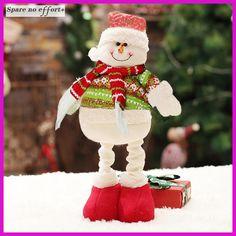 Christmas Dolls Santa Claus Toys For Child Christmas Decoration Long Leng Figurines Christmas Gift Navidad Decoraciones Para El