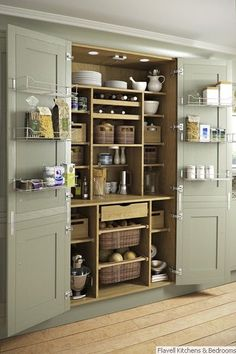 Magnificent Traditional Kitchen by Yorkshire And The Humber Kitchen Designers & Remodelers Holme Design The post 10 Kitchen Pantry Ideas for Your Home appeared first on Interior Designs . Kitchen Pantry Design, Kitchen Pantry Cabinets, New Kitchen, Kitchen Ideas, Kitchen Hacks, Awesome Kitchen, Kitchen Designs, Country Kitchen, Diy Cupboards
